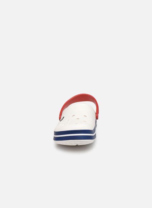 Clogs & Pantoletten Crocs Crocband F weiß schuhe getragen