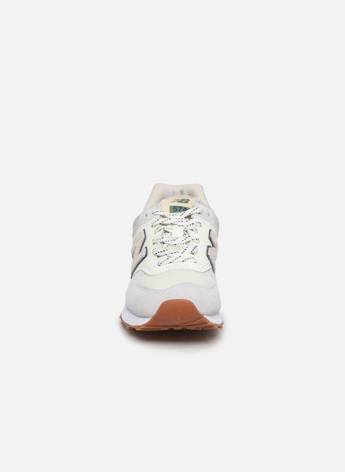 Baskets New Balance Ml574 W Gris vue portées chaussures