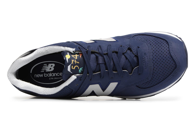 Sneaker New Balance ML574 D blau ansicht von links