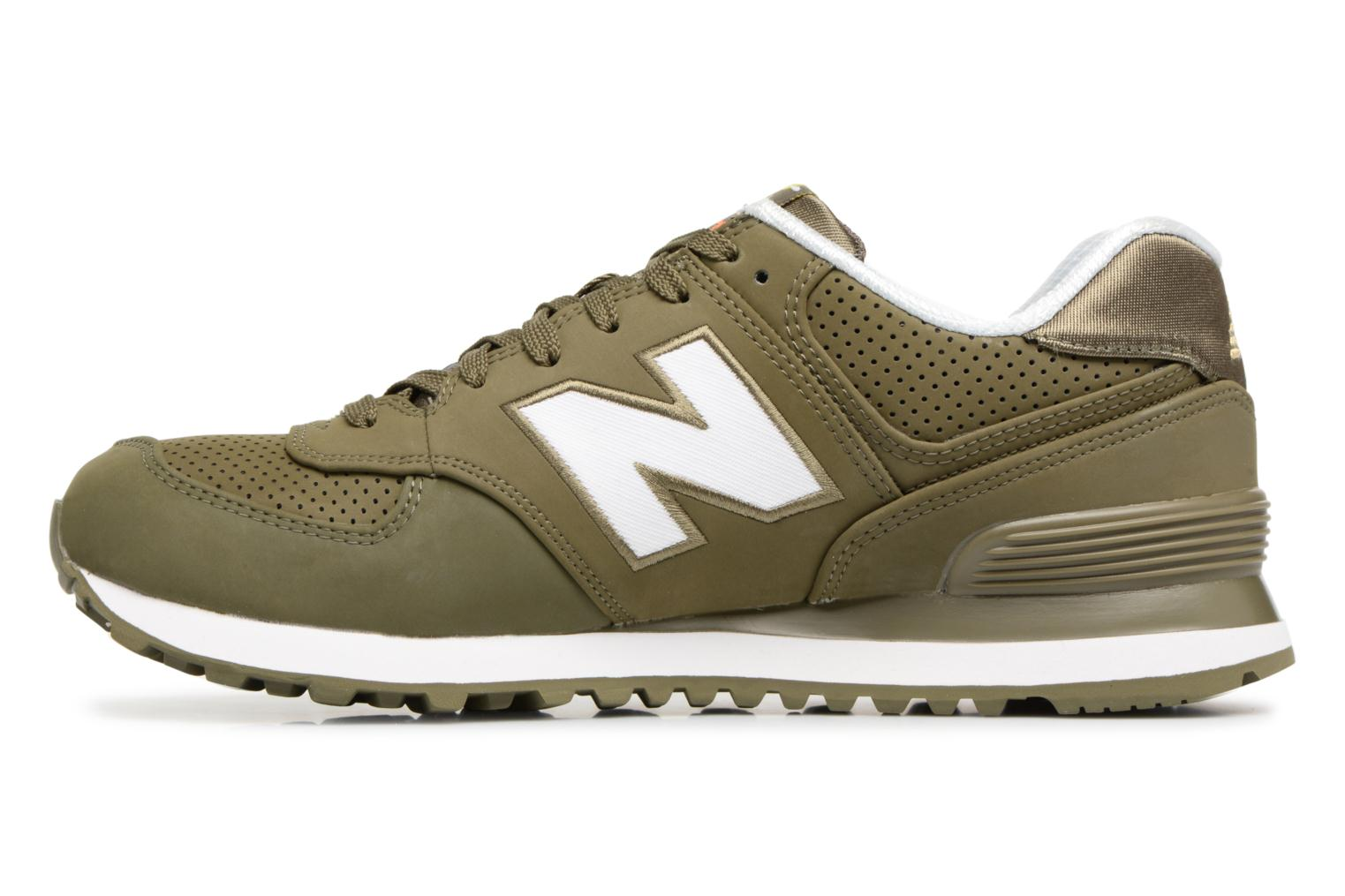 Baskets New Balance ML574 D Vert vue face