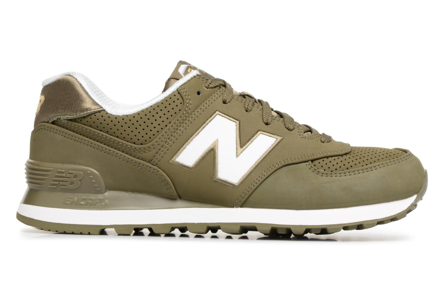 Trainers New Balance ML574 D Green back view