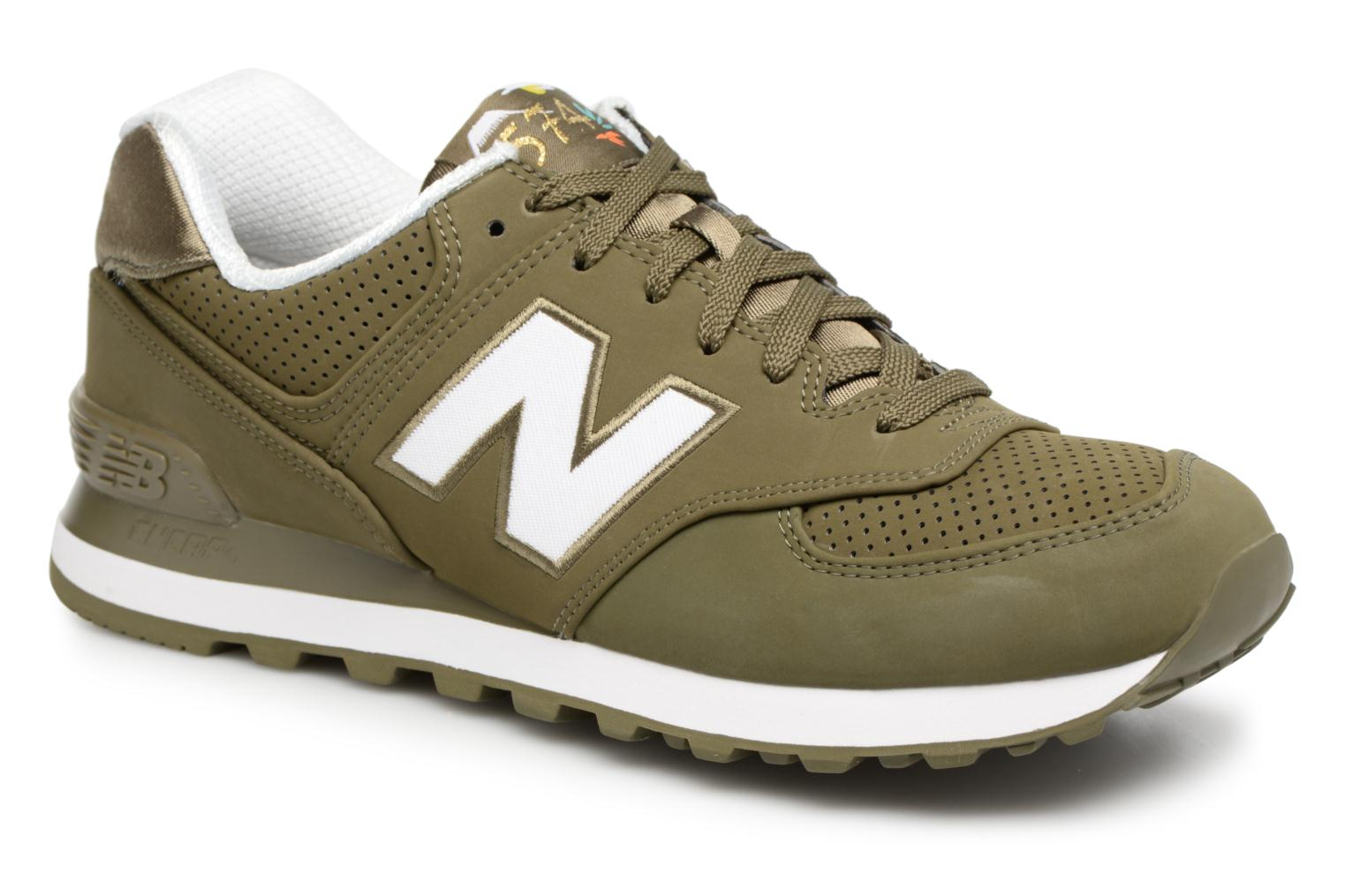Trainers New Balance ML574 D Green detailed view/ Pair view