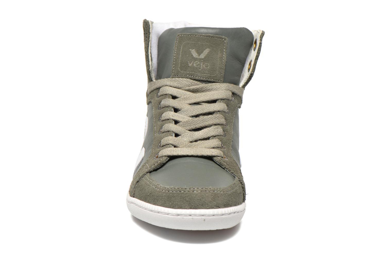 Baskets Veja Spma leather Gris vue portées chaussures