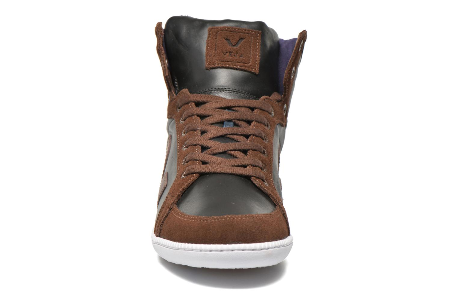 Trainers Veja Spma leather Black model view