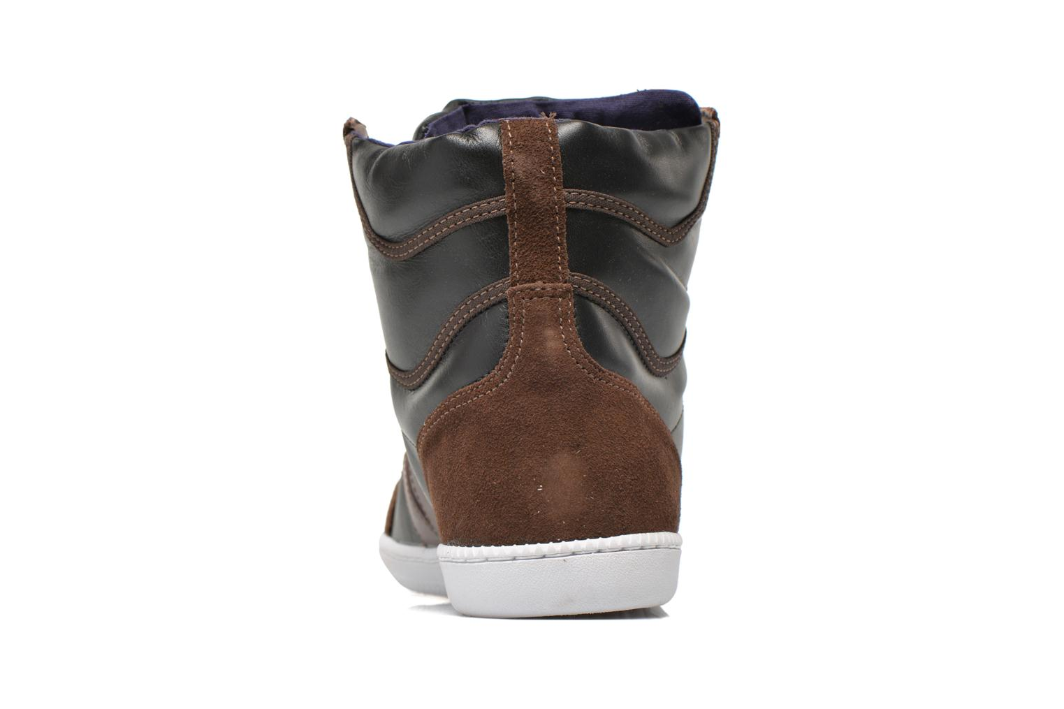 Trainers Veja Spma leather Black view from the right