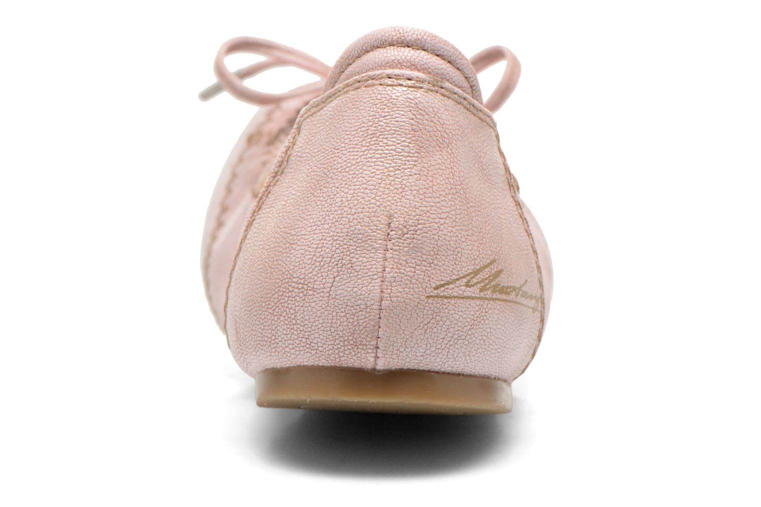 Ballet pumps Mustang shoes Leah Pink view from the right