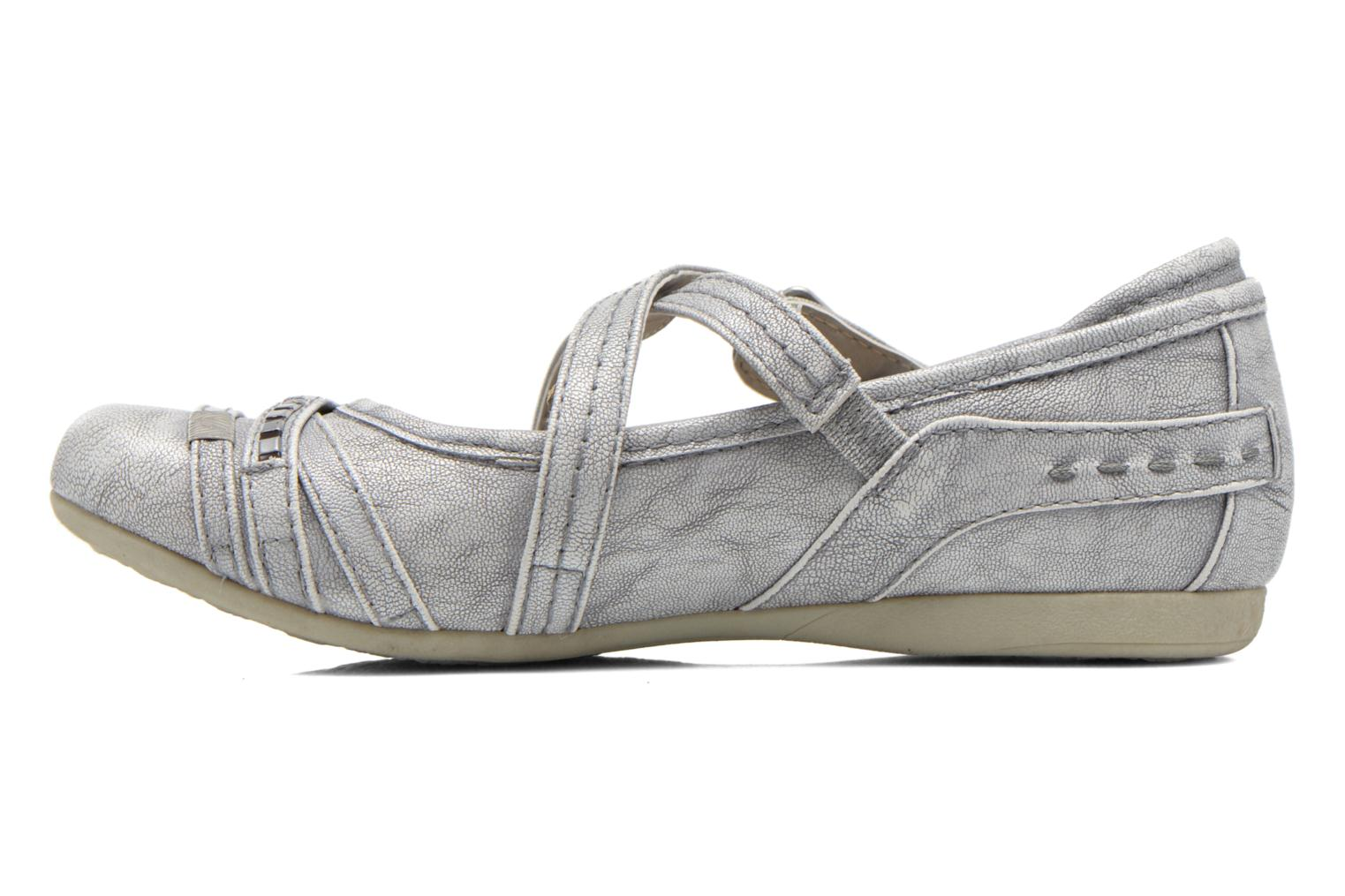 Ballet pumps Mustang shoes Maya Kids Silver front view