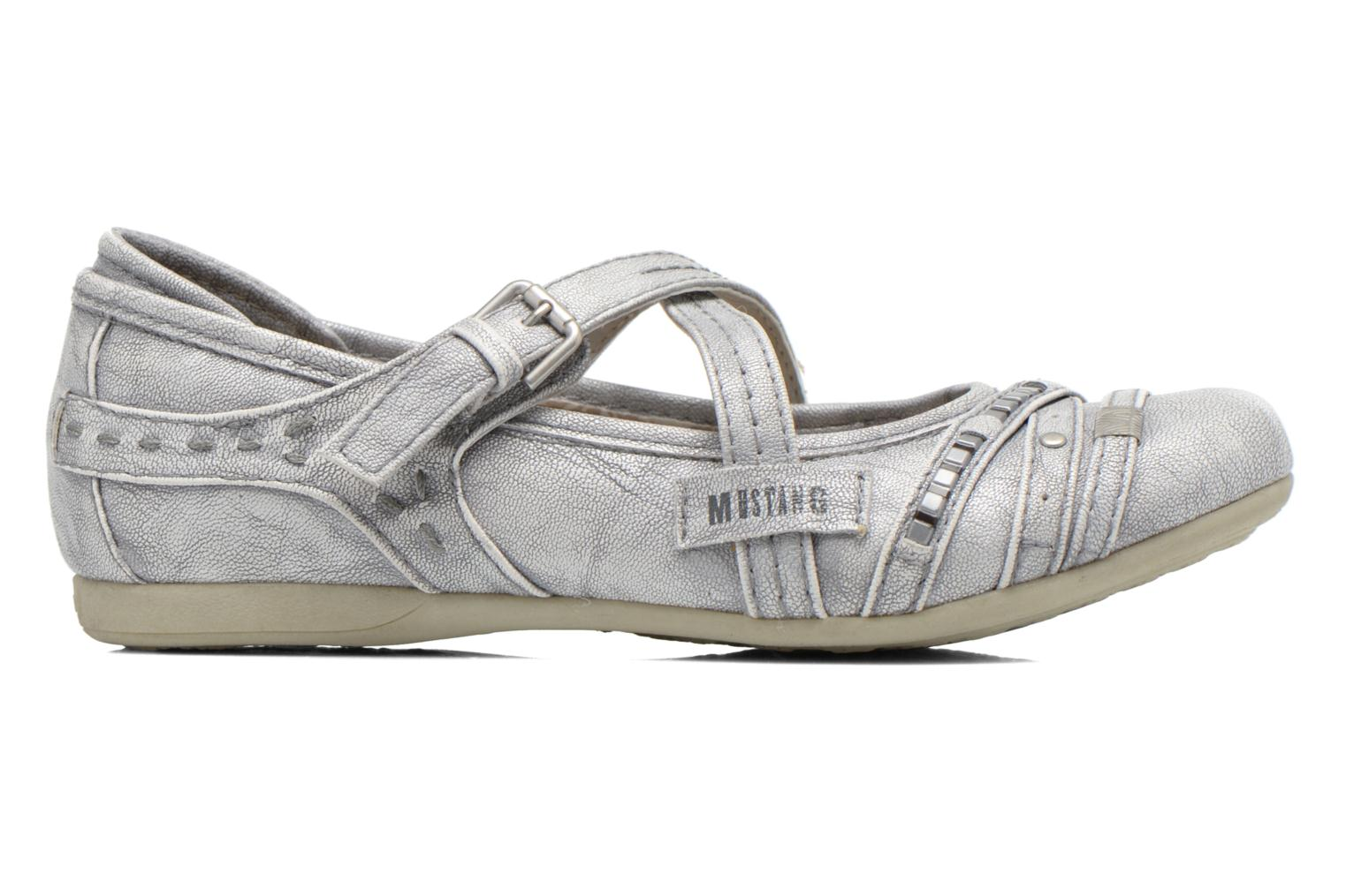 Ballet pumps Mustang shoes Maya Kids Silver back view