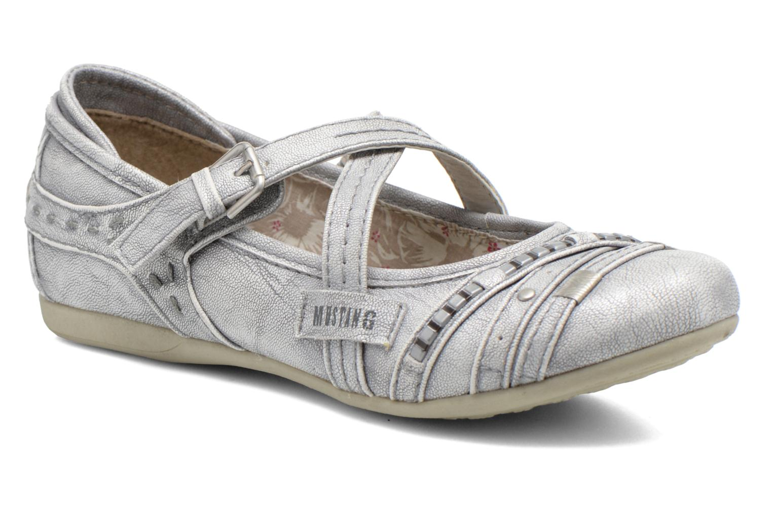 Ballet pumps Mustang shoes Maya Kids Silver detailed view/ Pair view
