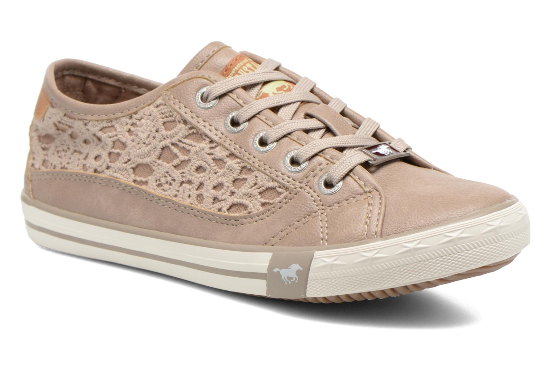 Baskets Mustang shoes Hannah Beige vue détail/paire