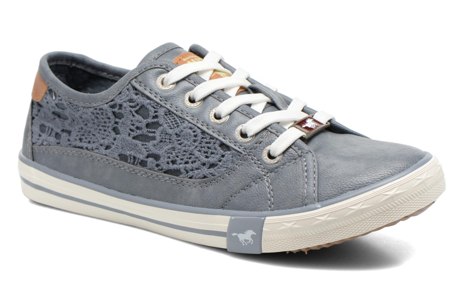 Baskets Mustang shoes Hannah Bleu vue détail/paire