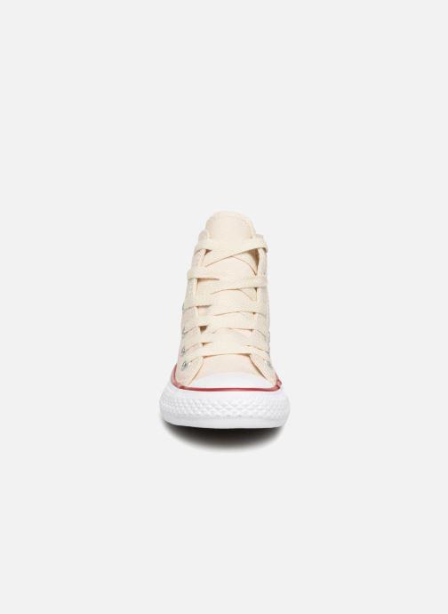 Sneaker Converse Chuck Taylor All Star Hi beige schuhe getragen