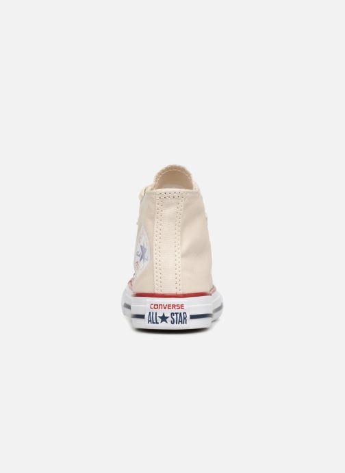 Sneaker Converse Chuck Taylor All Star Hi beige ansicht von rechts