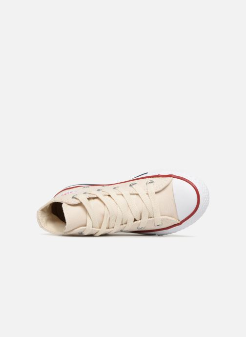 Sneaker Converse Chuck Taylor All Star Hi beige ansicht von links