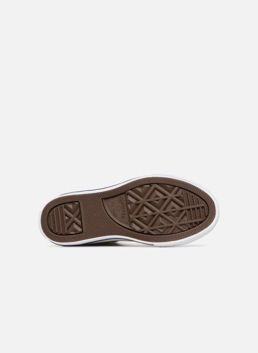 Sneaker Converse Chuck Taylor All Star Hi beige ansicht von oben