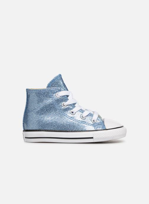 Sneaker Converse Chuck Taylor All Star Hi blau ansicht von hinten