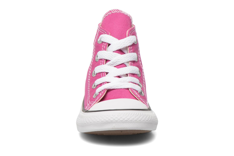 Baskets Converse Chuck Taylor All Star Hi Rose vue portées chaussures