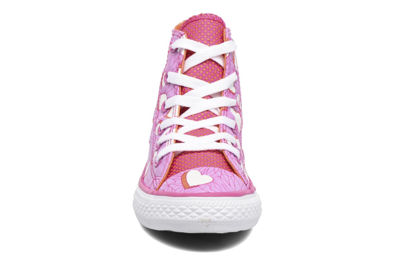 Baskets Converse Chuck Taylor All Star Hi Violet vue portées chaussures