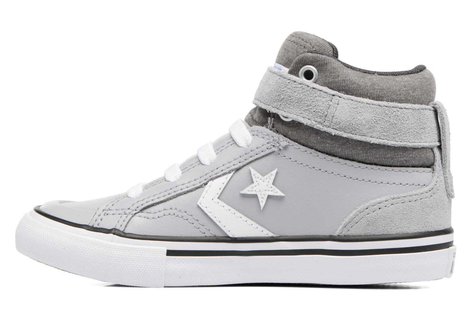 Sneakers Converse Pro Blaze Strap Stretch Hi Sport Leather Grijs voorkant