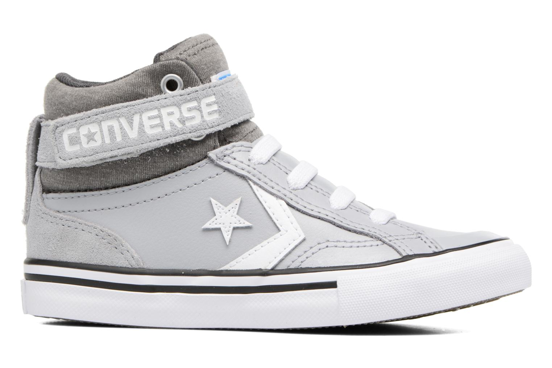 Baskets Converse Pro Blaze Strap Stretch Hi Sport Leather Gris vue derrière