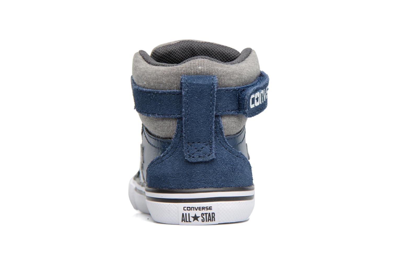 Baskets Converse Pro Blaze Strap Stretch Hi Sport Leather Bleu vue droite