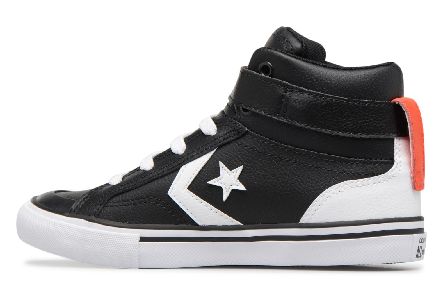 Sneakers Converse Pro Blaze Strap Stretch Hi Sport Leather Nero immagine frontale