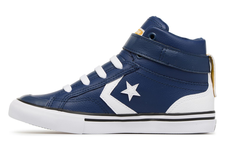 Sneakers Converse Pro Blaze Strap Stretch Hi Sport Leather Azzurro immagine frontale
