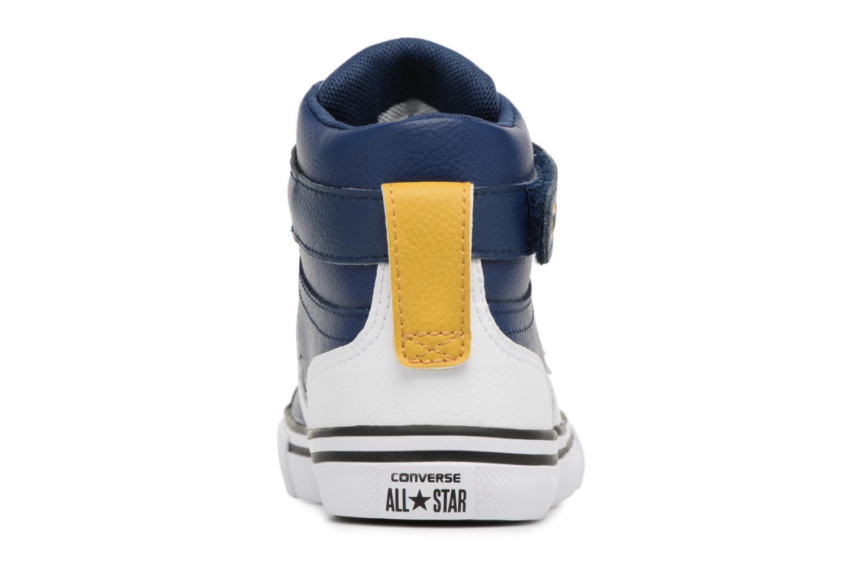 Sneakers Converse Pro Blaze Strap Stretch Hi Sport Leather Azzurro immagine destra