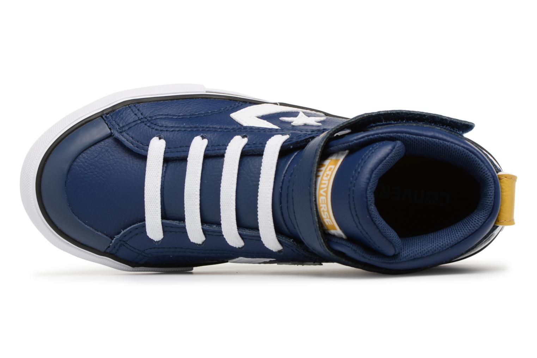Sneakers Converse Pro Blaze Strap Stretch Hi Sport Leather Azzurro immagine sinistra