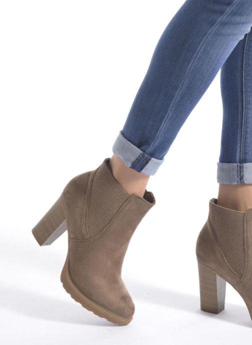 Bottines et boots I Love Shoes THASSE Noir vue bas / vue portée sac