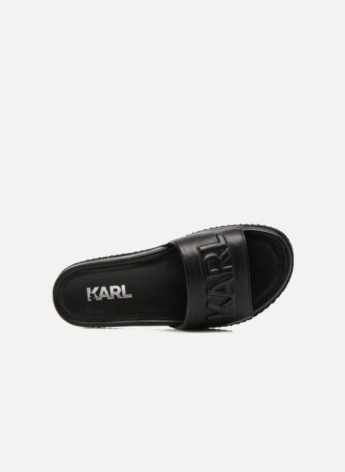 Sandales et nu-pieds Lagerfeld Jose by Karl Lagerfeld Noir vue gauche