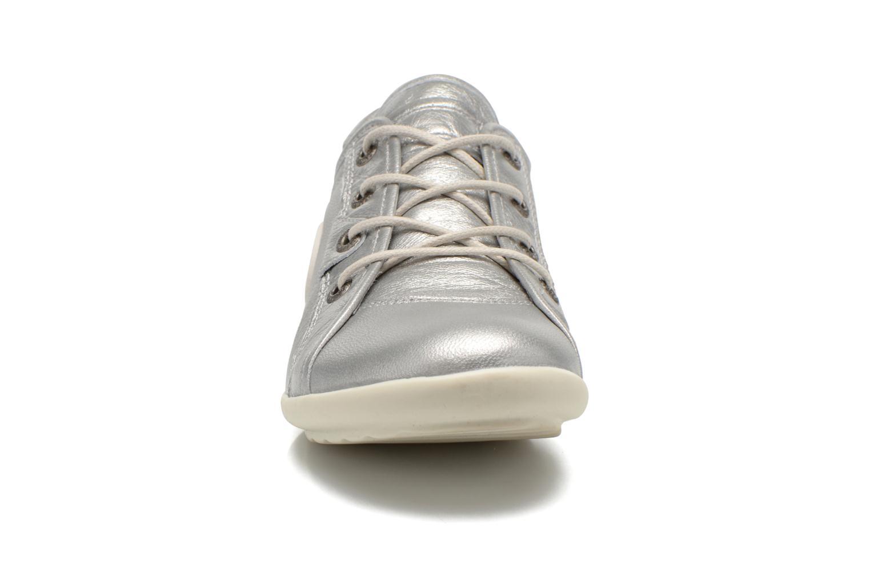 Baskets Pataugas NomiM Argent vue portées chaussures