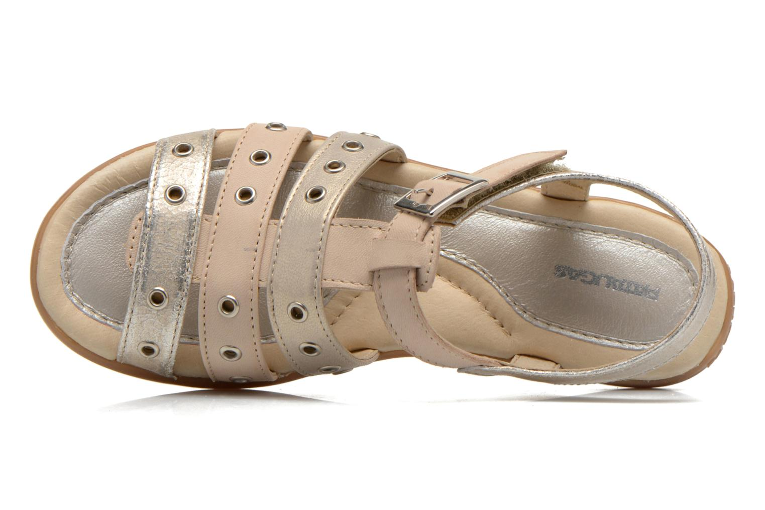 Sandals Pataugas Cello Silver view from the left