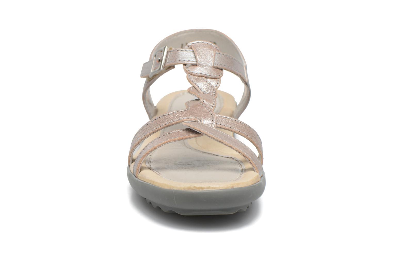 Sandales et nu-pieds Pataugas Claire J Argent vue portées chaussures