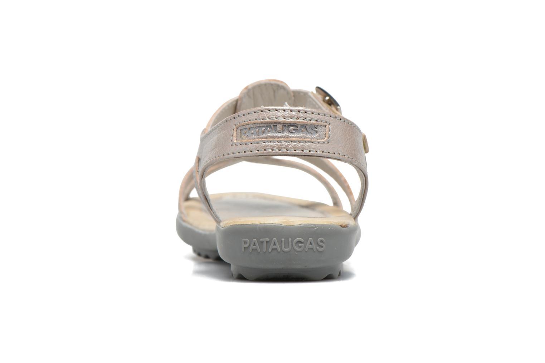 Sandales et nu-pieds Pataugas Claire J Argent vue droite