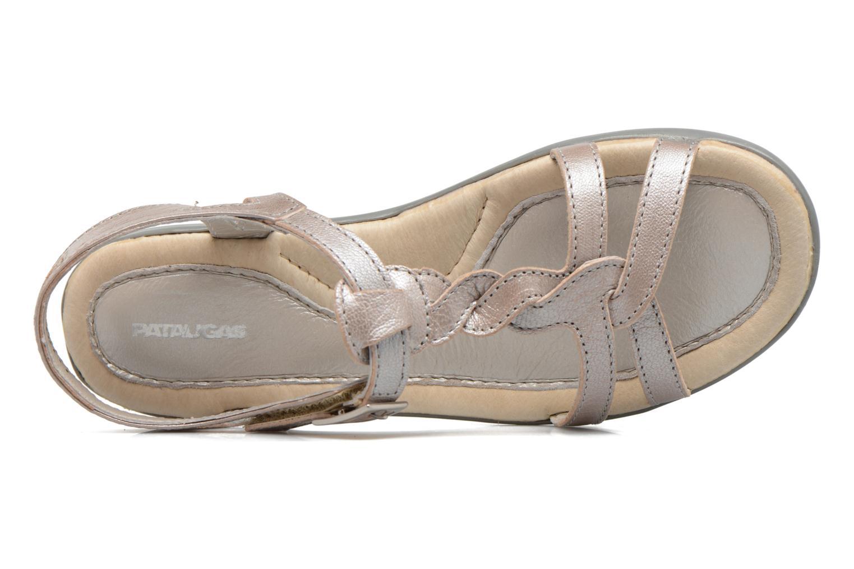 Sandales et nu-pieds Pataugas Claire J Argent vue gauche