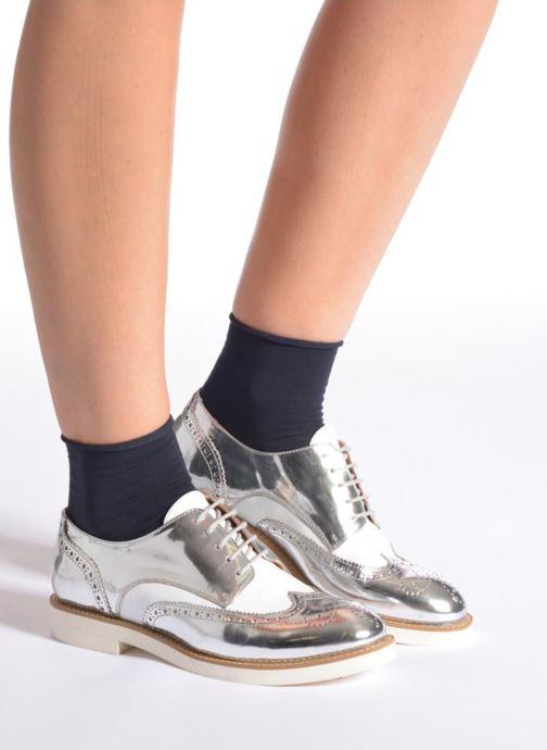 Chaussettes et collants Falke Mini-Socquettes TOUCH Bleu vue portées chaussures