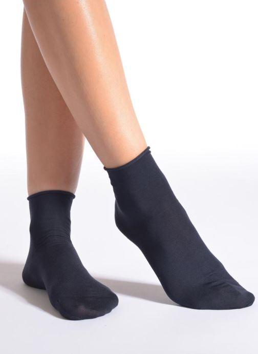 Chaussettes et collants Falke Mini-Socquettes TOUCH Bleu vue détail/paire