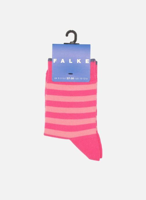 Socken & Strumpfhosen Falke Socken DOUBLE STRIPE rosa ansicht von hinten