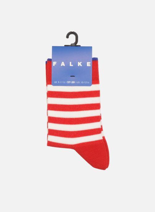 Chaussettes et collants Falke Chaussettes DOUBLE STRIPE Rouge vue portées chaussures