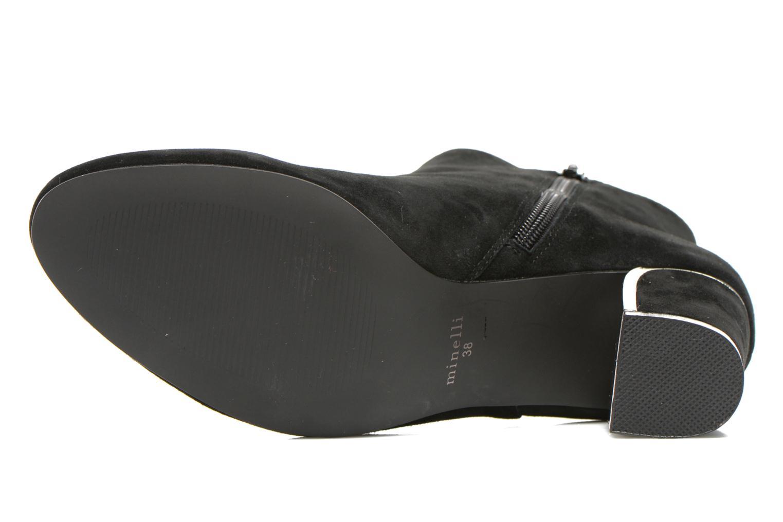 Stiefeletten & Boots Minelli F80 721/VEL schwarz ansicht von oben