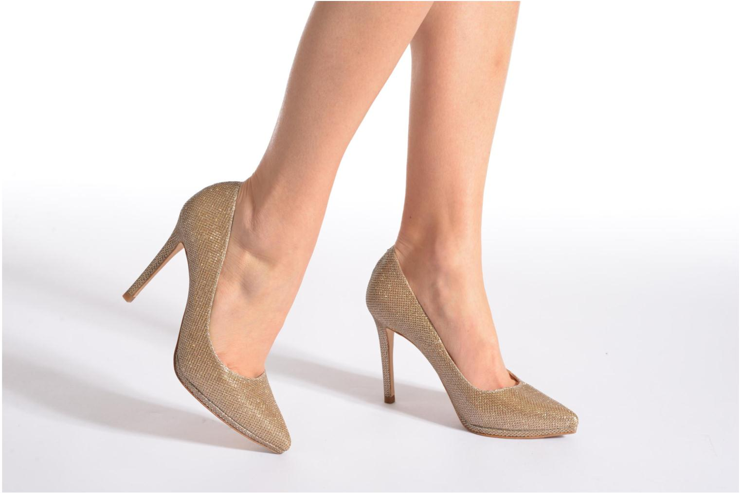 High heels Minelli F91 711/TIS Bronze and Gold view from underneath / model view
