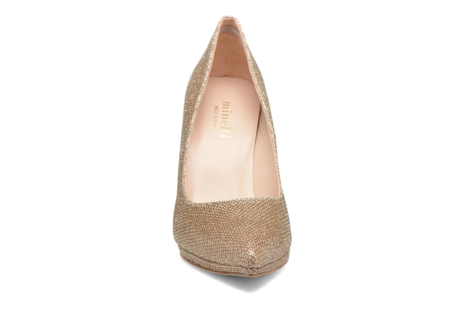High heels Minelli F91 711/TIS Bronze and Gold model view