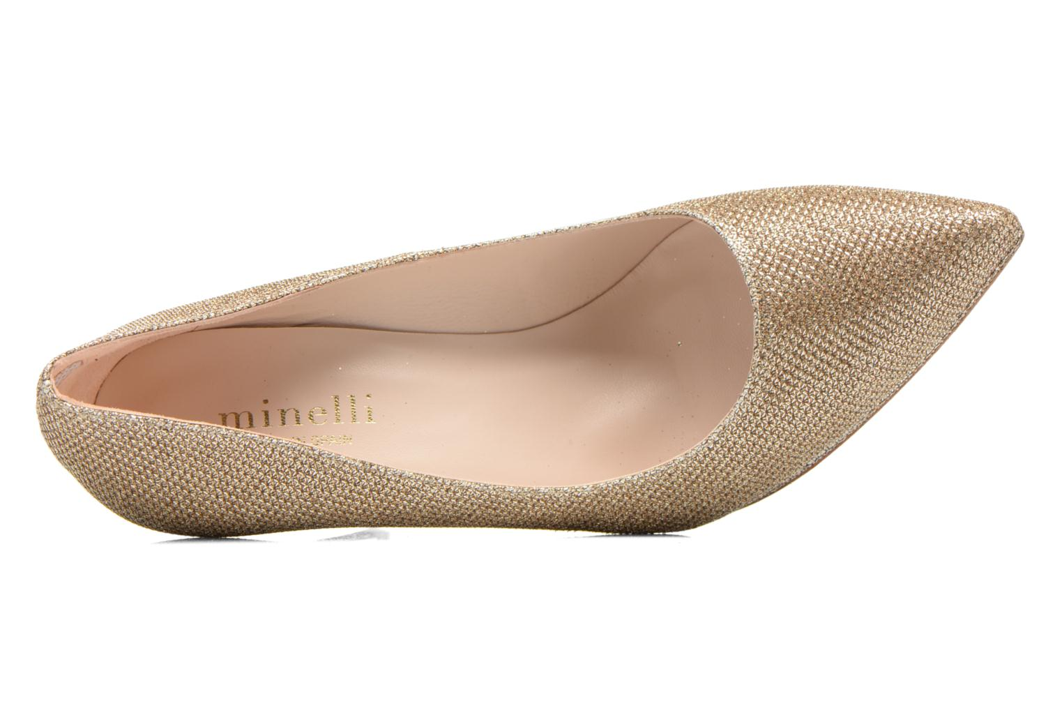 High heels Minelli F91 711/TIS Bronze and Gold view from the left