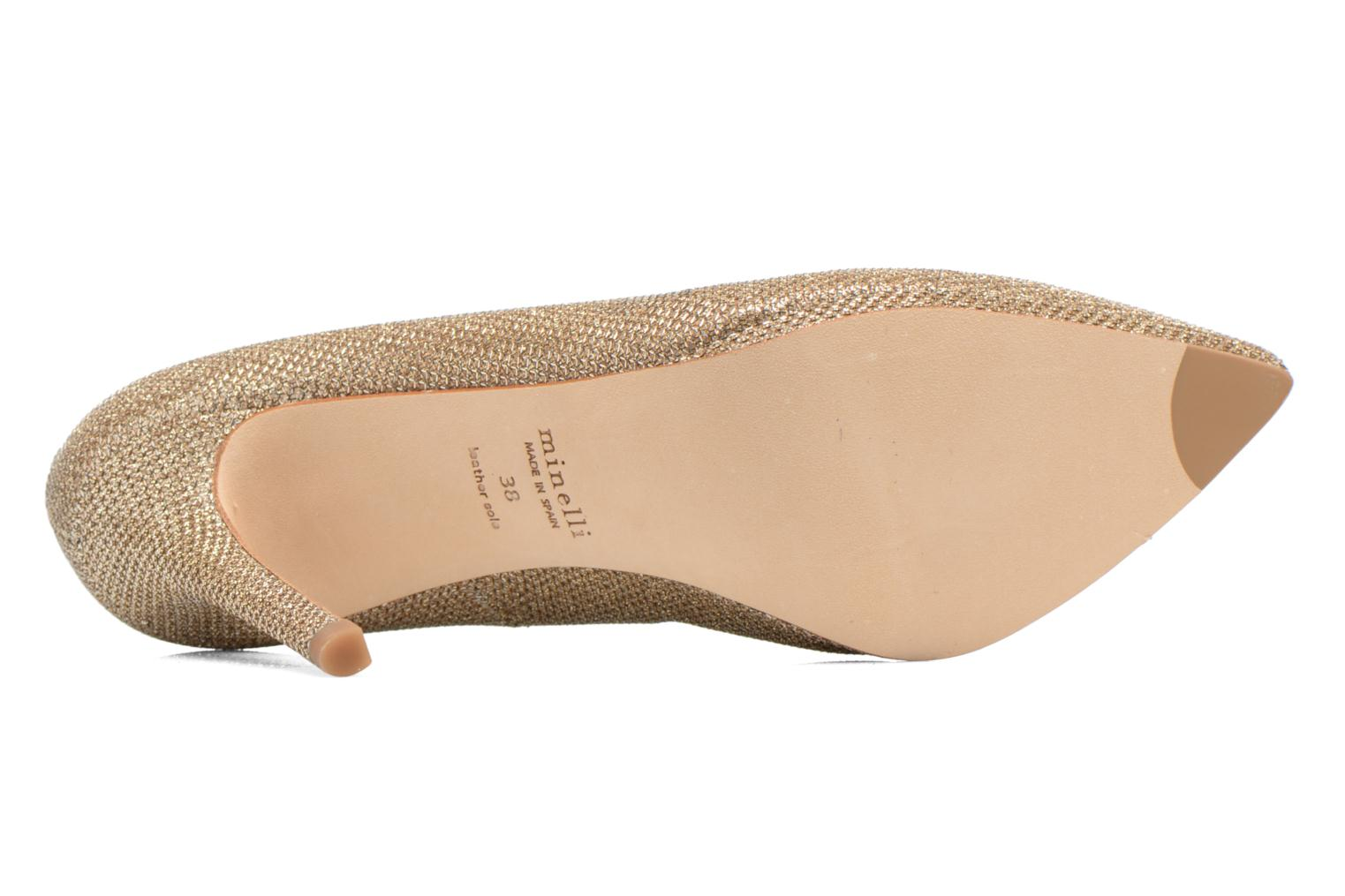 High heels Minelli F91 711/TIS Bronze and Gold view from above