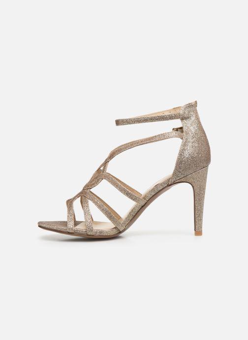 Sandales et nu-pieds Minelli F93 602/GLI Or et bronze vue face