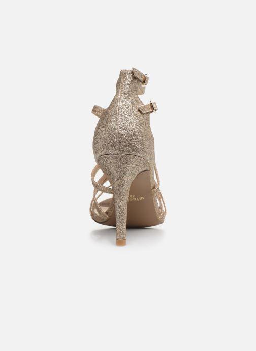 Sandales et nu-pieds Minelli F93 602/GLI Or et bronze vue droite