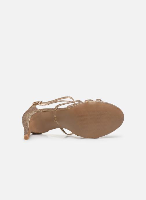 Sandales et nu-pieds Minelli F93 602/GLI Or et bronze vue haut