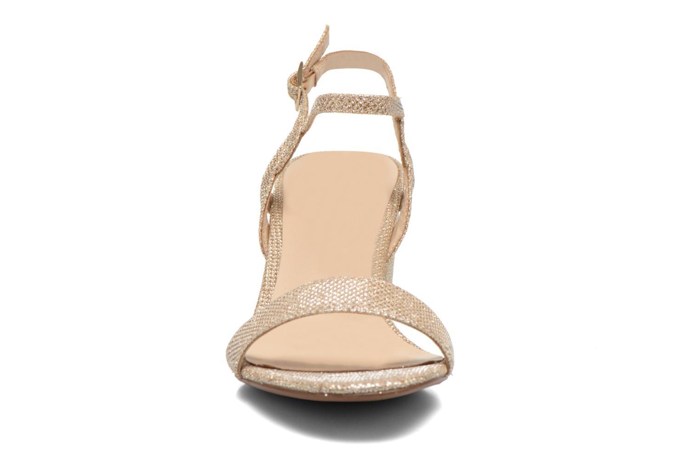 Sandales et nu-pieds Minelli F93 817/GLI Or et bronze vue portées chaussures