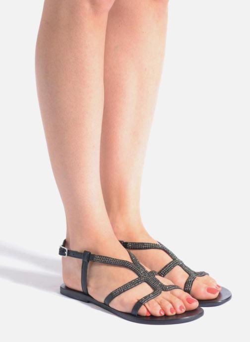 Sandales et nu-pieds Minelli F63 802 Noir vue bas / vue portée sac